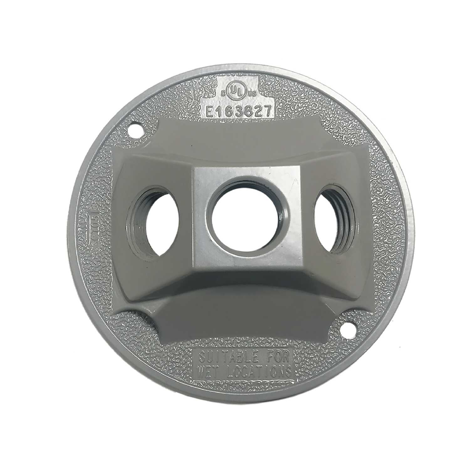 Sigma  Round  Die cast Aluminum  1 gang Electrical Cover  For Light Fixtures