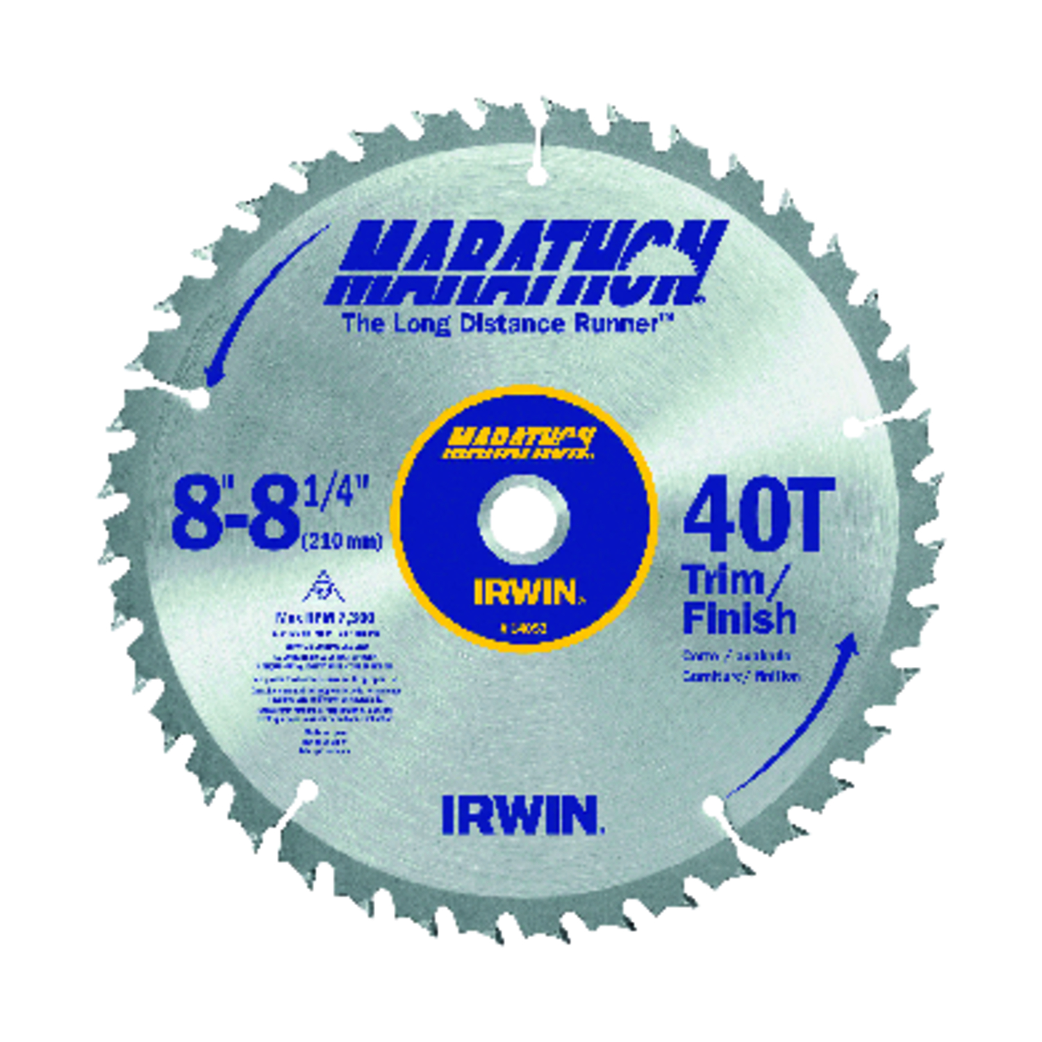 Irwin  8-1/4 in.  Dia. x 5/8 in.  Carbide  Miter and Table Saw Blade  1 pk
