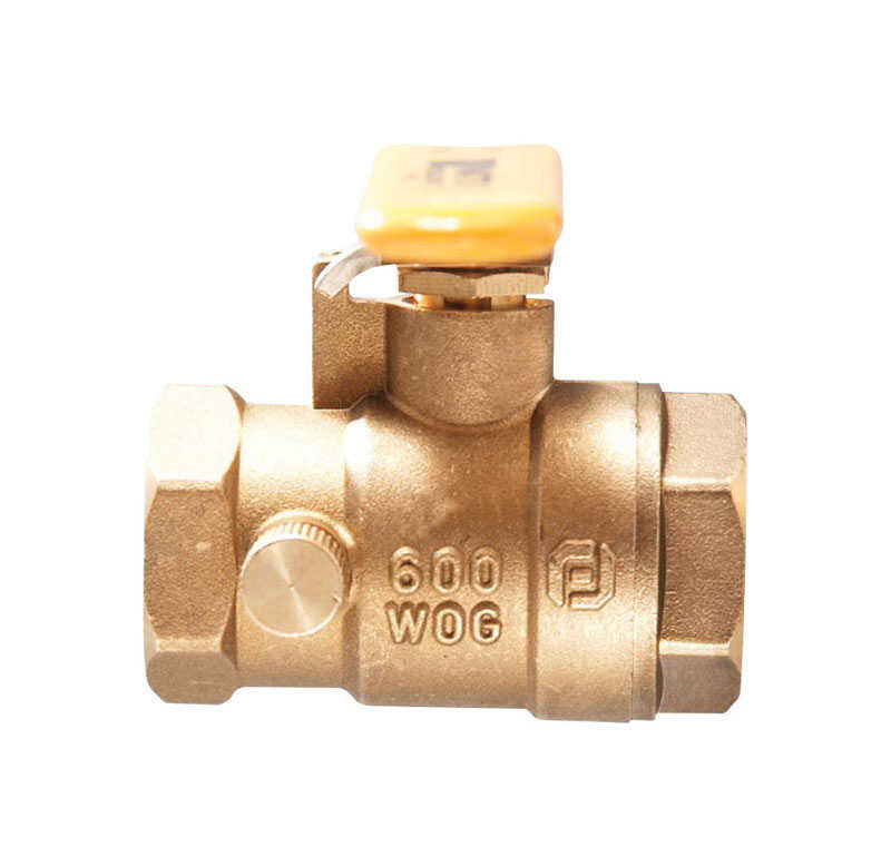 Watts  Brass  Ball Valve with Drain