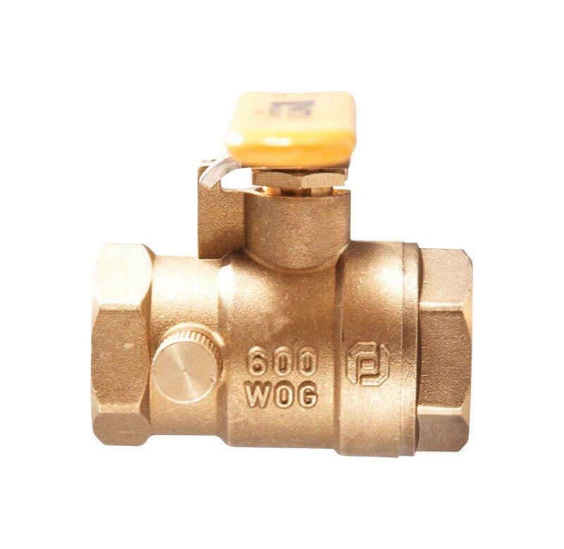 Watts  3/4 in. Brass  Threaded  Ball Valve with Drain  Full Port