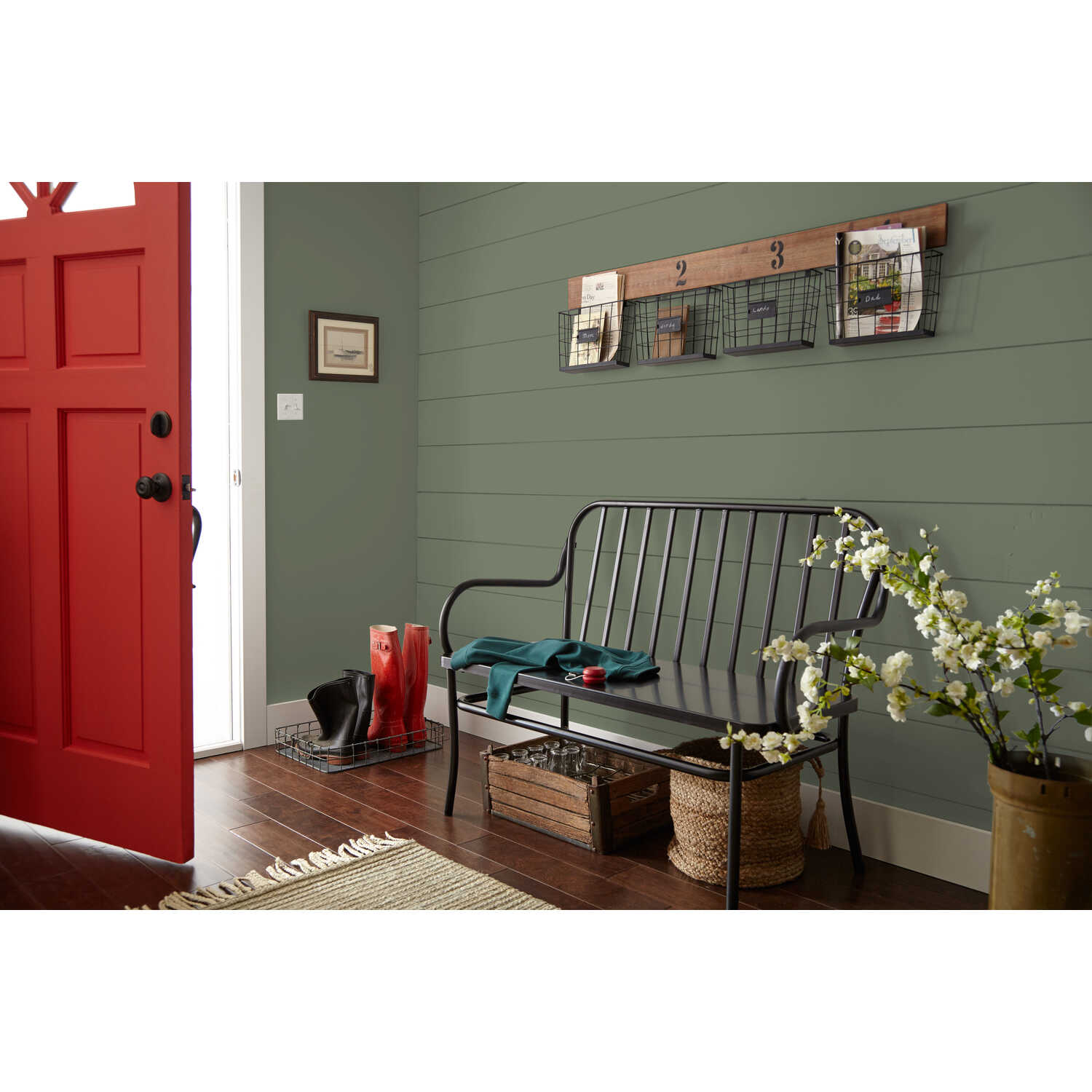 Magnolia Home  by Joanna Gaines  Matte  Bespoke Green  Deep Base  Acrylic  Paint  1 gal.