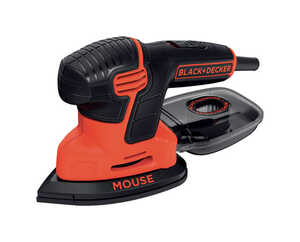 Black and Decker  Mouse  Corded  1.2 amps Orange  Mouse Detail Sander  14000 rpm