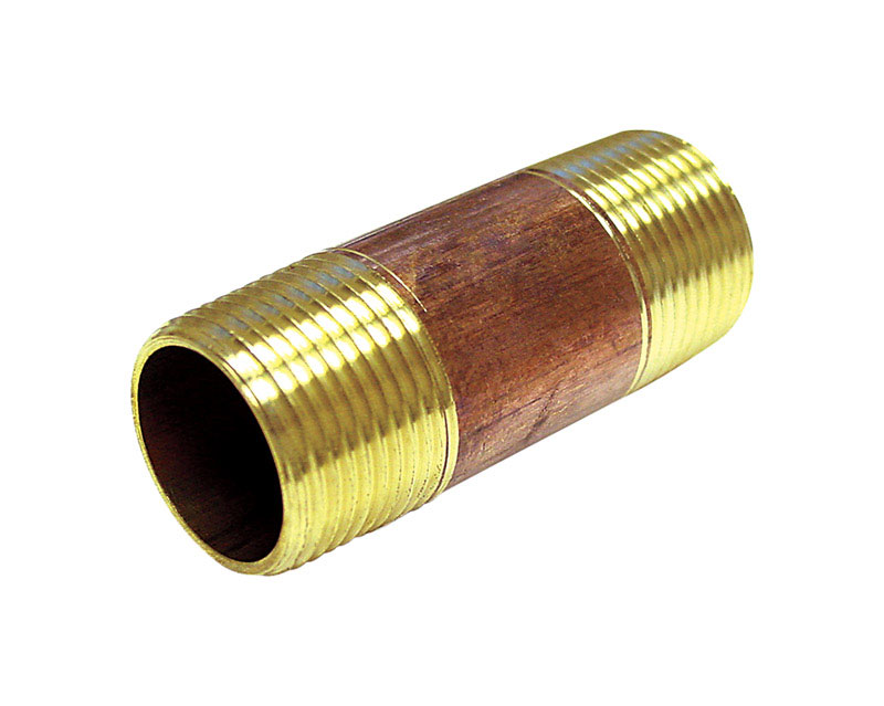 Ace  3/4 in. MPT   x 3/4 in. Dia. MPT  Threaded  Red Brass  Pipe Nipple