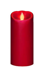 Iflicker  Red  Candle  7 in. H x 3 in. Dia.