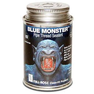 Mill Rose  Blue Monster  Blue  Pipe Thread Sealant  4 oz.