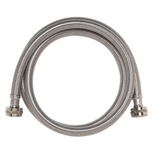 Ace  3/4 in. FIP   x 3/4 in. Dia. FIP  Stainless Steel  6 ft. Supply Line