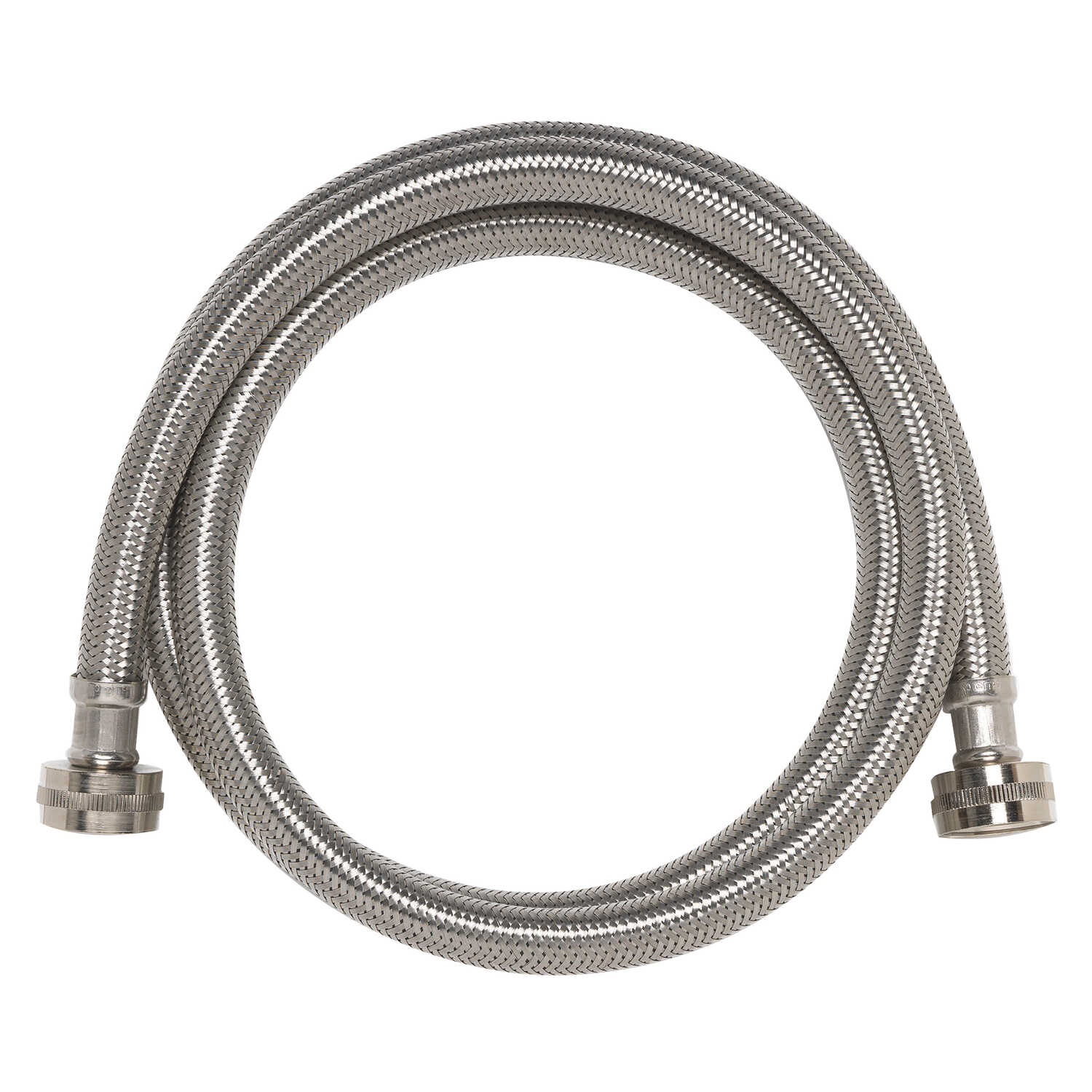 Ace  3/4 in. FIP   Stainless Steel  Washing Machine  Supply Line  6 ft.