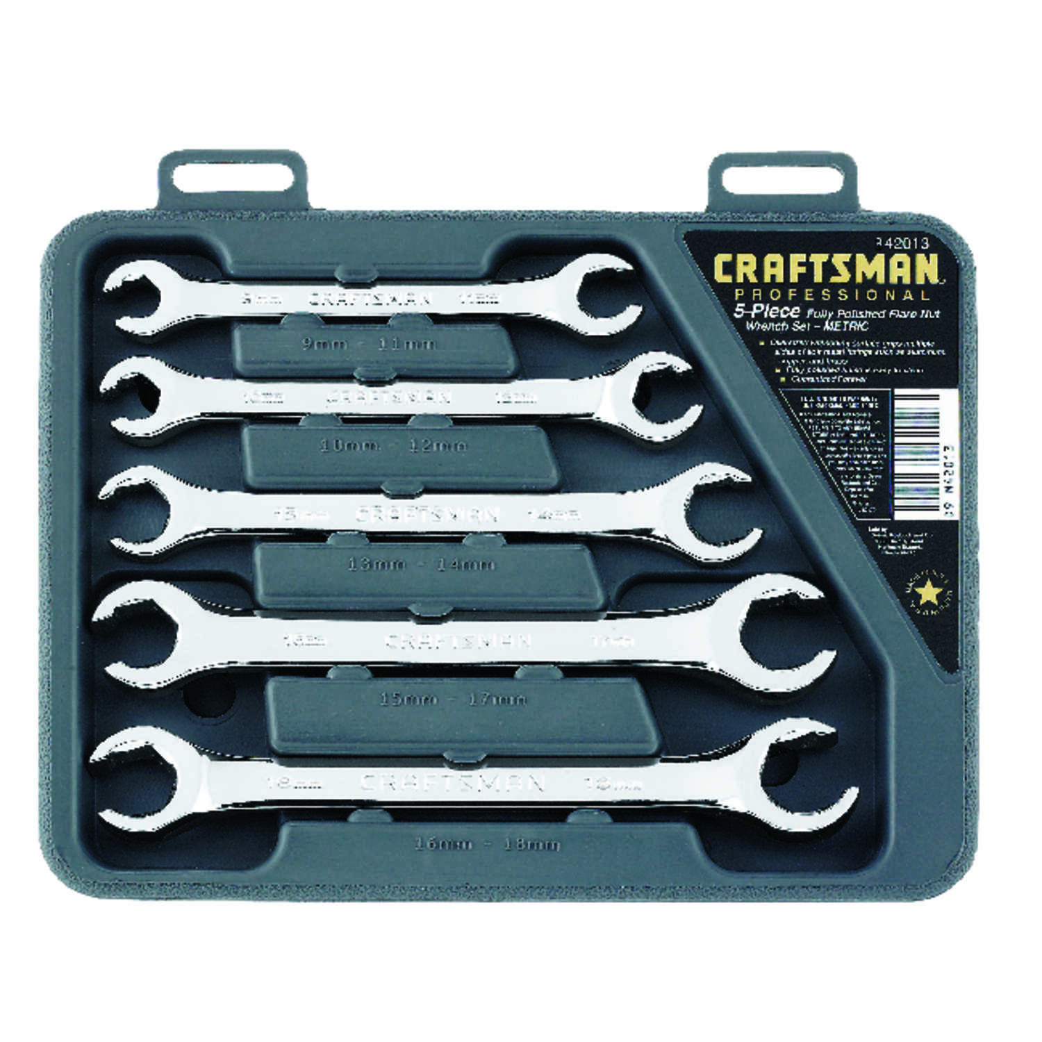Craftsman  Metric  Wrench Set  Steel  5 pc.