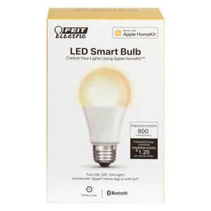 FEIT Electric  A19  E26 (Medium)  LED Smart Bulb  White  60 Watt Equivalence 1 pk