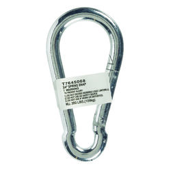 Campbell Chain  Zinc-Plated  Steel  Spring Snap  350 lb. 4-3/4 in. L