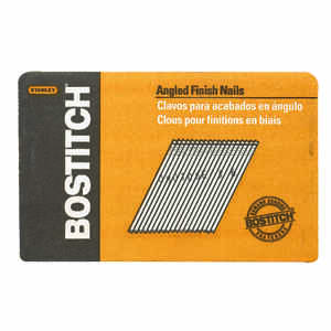 Bostitch  15 Ga. Smooth Shank  Angled Strip  Finish Nails  1-1/2 in. L x 0.12 in. Dia. 3,655 pc.