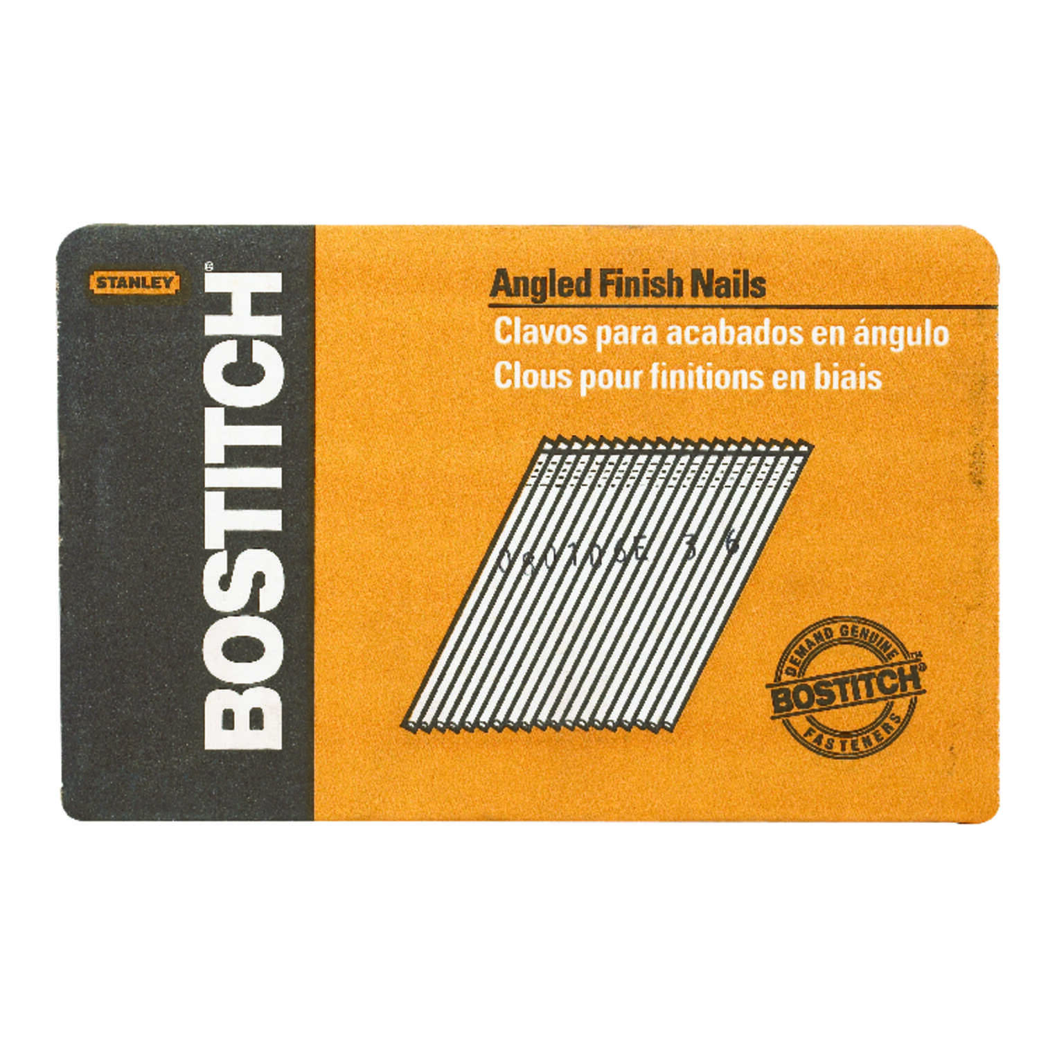 Bostitch  1-1/2 in. 15 Ga. Angled Strip  Finish Nails  Smooth Shank  3655 pk