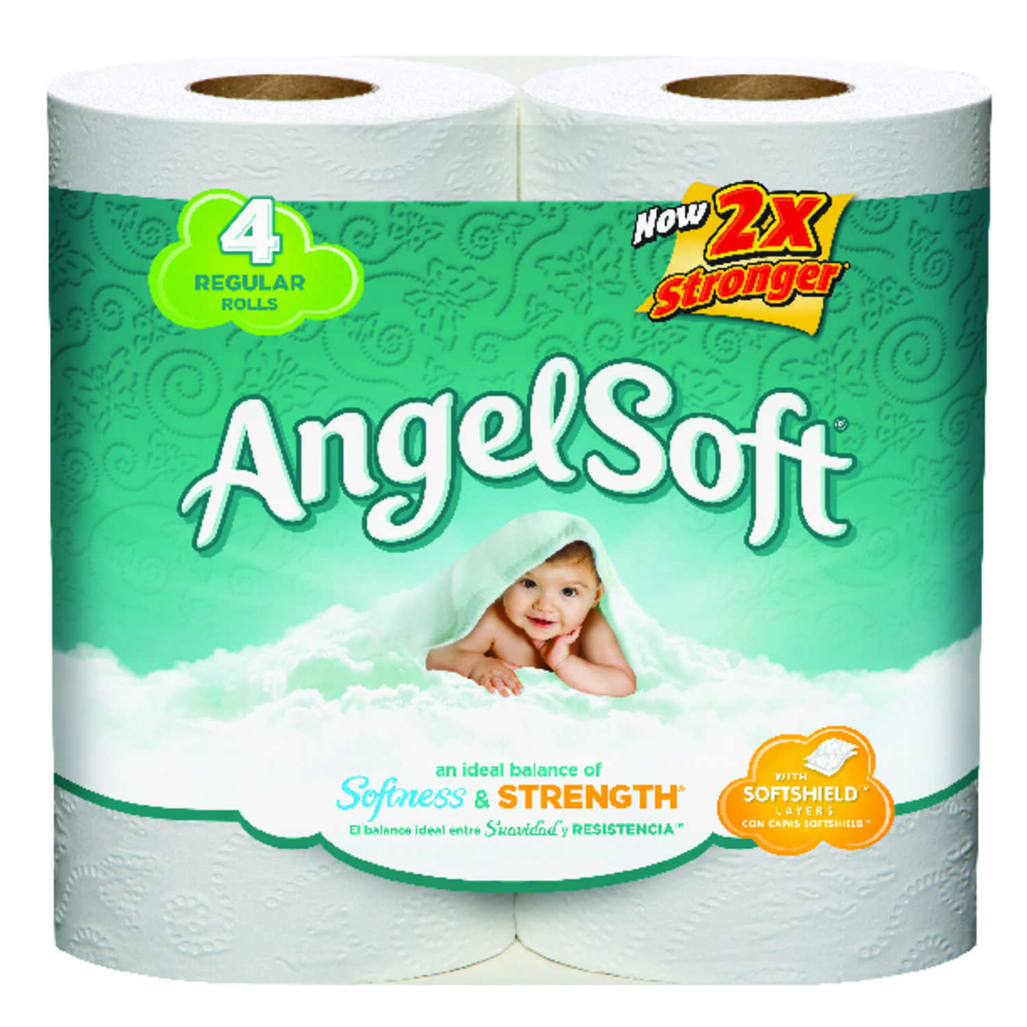 Angel Soft  Toilet Paper  4 roll 132 sheet 58.66667 SQFT