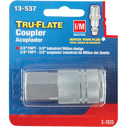 Tru-Flate  Steel  Quick Change Coupler  3/8 in. Female  1 pc.