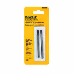 DeWalt  3-1/4 in. L Carbide  Planer Blade  Double-Edged 2 pk