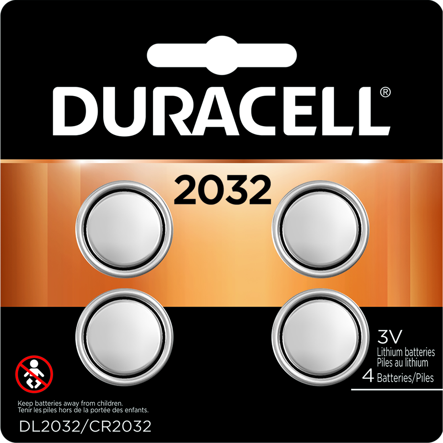 Duracell  2032  Security and Electronic Battery  4 pk Lithium