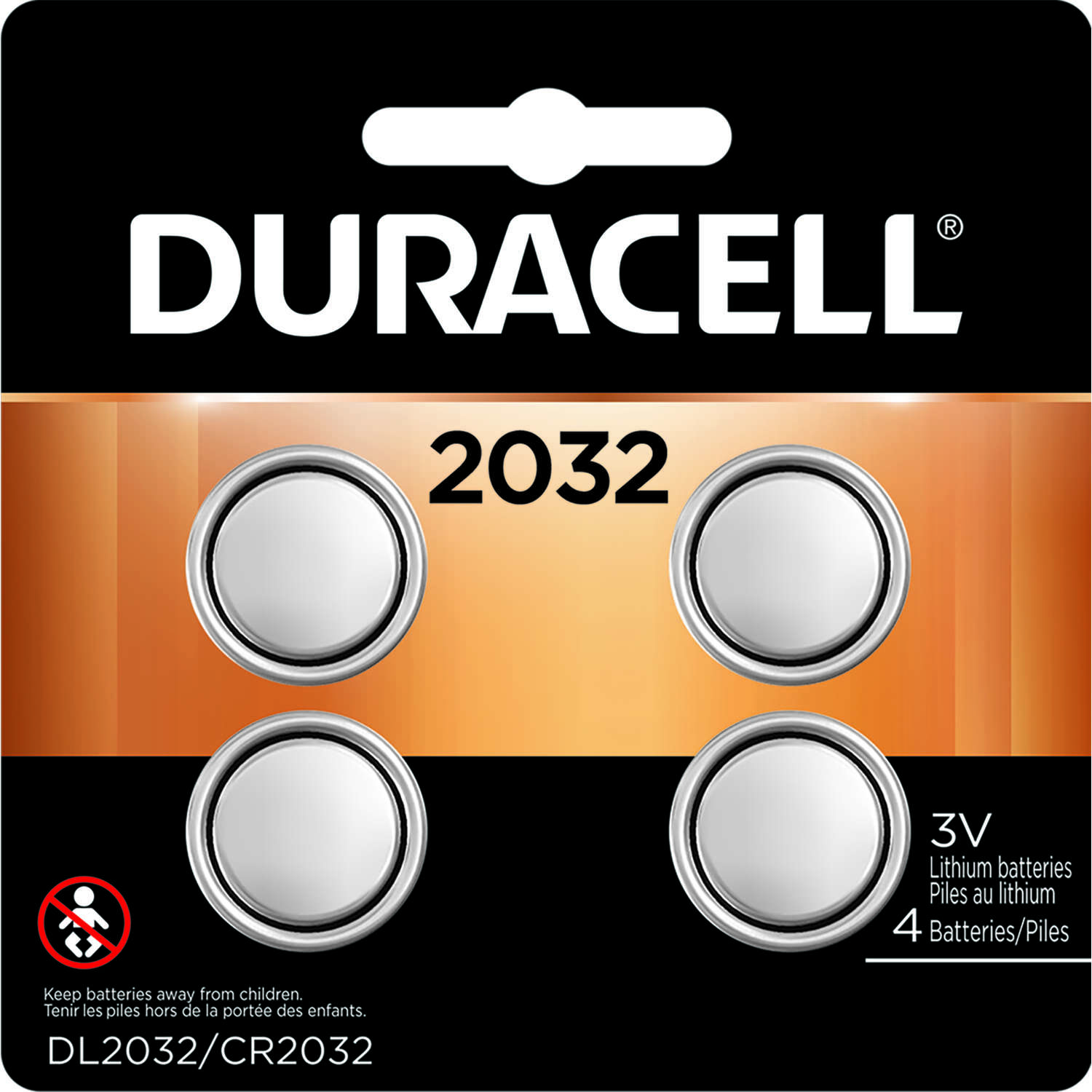 Duracell  Lithium  2032  3 volt Security and Electronic Battery  4 pk