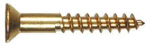 HILLMAN  No. 4   x 3/4 in. L Phillips  Flat Head Brass  Wood Screws  100 pk