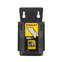 Stanley Steel Heavy Duty Blade Dispenser with Blades 2-7/16 in. L 100 pc.