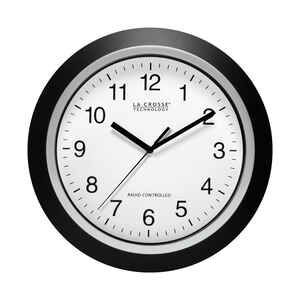 La Crosse Technology  12 in. L x 1 in. W Indoor  Casual  Analog  Atomic Wall Clock  Glass/Plastic  B