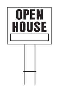 Hy-Ko  English  Open House  Sign  Plastic  23 in. H x 24 in. W