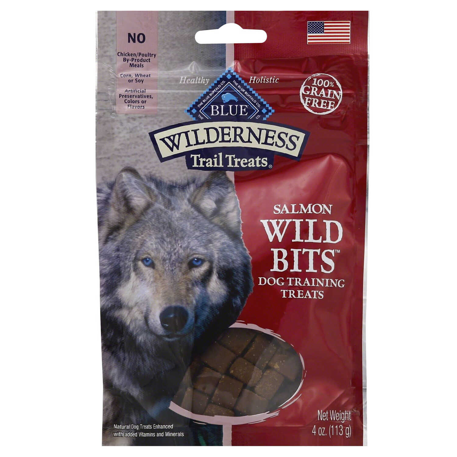 Blue Buffalo  Blue Wilderness  Salmon  Grain Free Treats  For Dog 4 oz. 1 pk