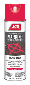 Ace  Solvent-Based  Red  Traffic Zone Marking Paint  17 oz.
