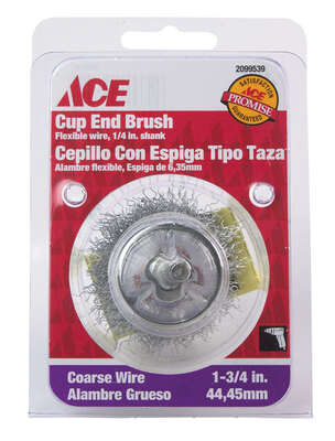 Ace 1-3/4 in. Crimped Wheel Brush Carbon Steel 4500 rpm 1 pc.