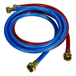 Ultra Dynamic Products  3/8 in. 3/8 in. Dia. 4 ft. Rubber  Washing Machine Supply Line