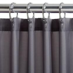 Zenna Home  72 in. H x 70 in. W Gray  Solid  Shower Curtain Liner  Fabric
