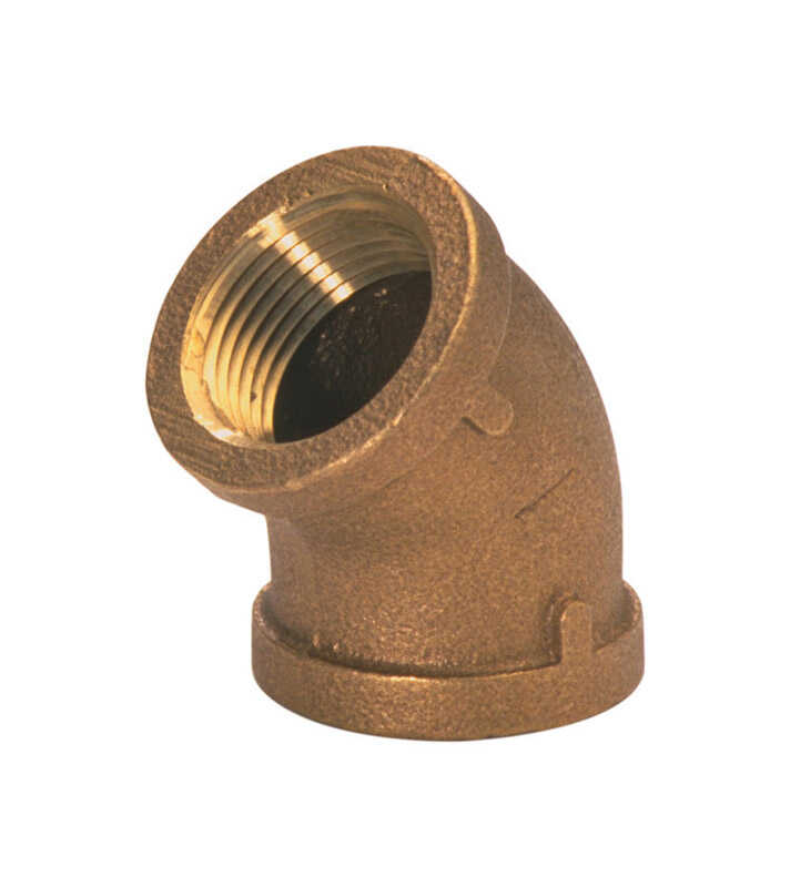 JMF  3/4 in. FPT   x 3/4 in. Dia. FPT  Red Brass  Elbow