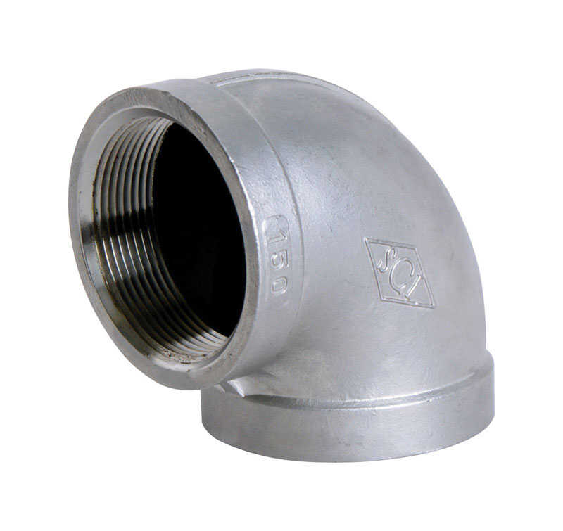 Smith Cooper  1-1/4 in. FPT   x 1-1/4 in. Dia. FPT  Stainless Steel  90 Degree Elbow