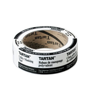 Tartan  1.41 in. W x 60 yd. L Tan  High Strength  Masking Tape  1 pk