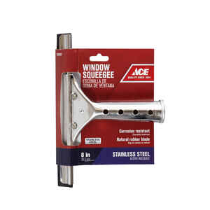 Ace  8 in. Stainless Steel  Window Squeegee