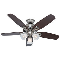 Hunter Fan Builder Small Room 42 in. Brushed Nickel Indoor Ceiling Fan