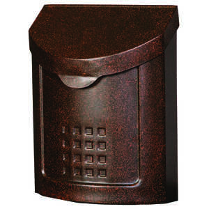 Gibraltar Mailboxes  Lockhart  Galvanized Steel  Wall-Mounted  Copper  5 in. L x 12-1/4 in. H x 12-1