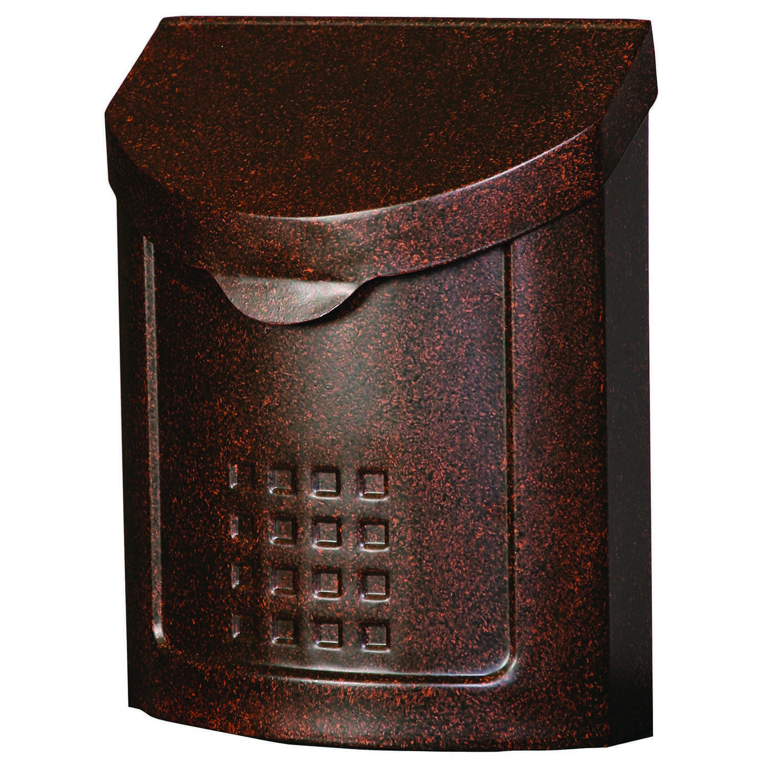 Gibraltar Mailboxes  Lockhart  Galvanized Steel  Wall-Mounted  Copper  Lockable Mailbox  12-1/4 in.