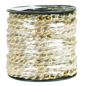 Campbell Chain  No. 250  Brass Plated  Gold  Brass  Hobby/Craft Chain  3/32 in. Dia. 0.33 in.