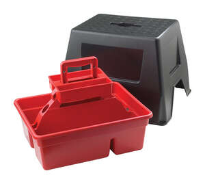 Little Giant  Duratote  14 in. H x 16 in. W x 20 in. D 300 lb. Plastic  1  Stool and Tote Box