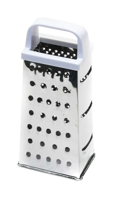 Chef Craft  3-1/2 in. W x 8 in. L Silver/White  4-Sided Pyramid Grater
