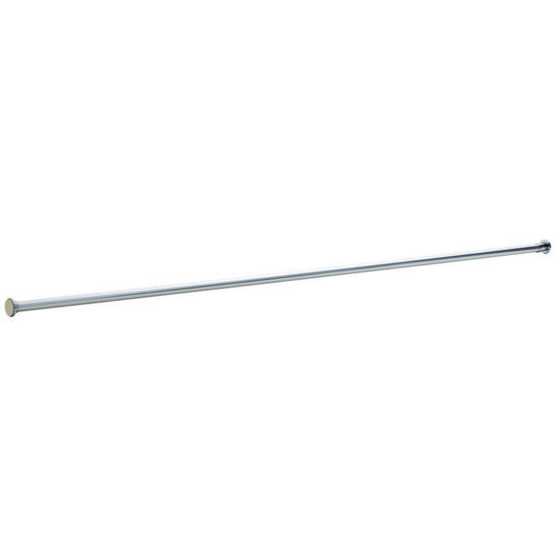 Liberty Hardware  Shower Rod  1 in. H x 1.6 in. W x 72.5 in. L Polished Chrome  Chrome  Stainless St