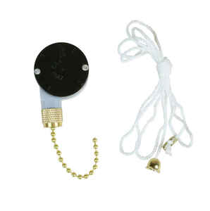 Jandorf  Plastic  Pull Chain Switch