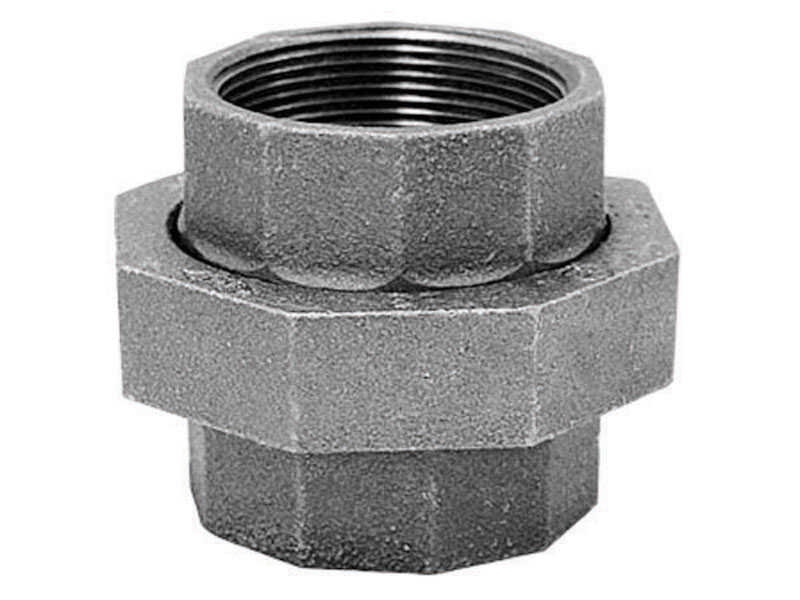 B & K  1/2 in. FPT   x 1/2 in. Dia. FPT  Galvanized  Malleable Iron  Union