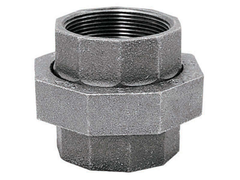 BK Products  1/2 in. FPT   x 1/2 in. Dia. FPT  Galvanized  Malleable Iron  Union