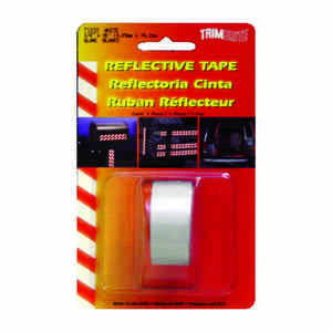 Trim Brite  0.75 in. W x 30 in. L White  Reflective Tape