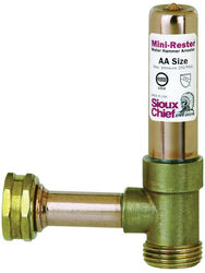 Sioux Chief  MiniRester  3/4 in. Female   x 3/4 in. Dia. MPT  Copper  Water Hammer Arrester