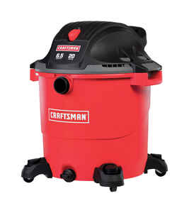 Craftsman  20 gal. Corded  Wet/Dry Vacuum  6.5 hp 12 amps 120 volt Red  32 lb.