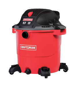 Craftsman  20 gal. Corded  Wet/Dry Vacuum  6.5 hp 120 volts Red  12 amps 1 pc. 32 lb.