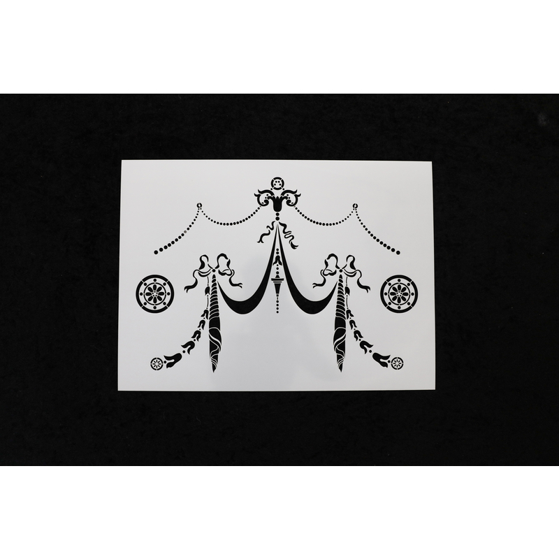 Amy Howard at Home  22 in. L x 17.5 in. W Furniture Stencil