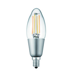 Globe  Edison  B11  E12 (Candelabra)  Smart WiFi LED Bulb  Tunable White  40 Watt Equivalence 1 pk